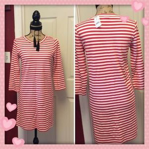 J. Crew striped long sleeve Shift Dress